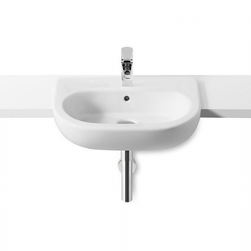 Roca Meridian-N Semi-Recessed Basin -550mm - 1 Tap Hole - White